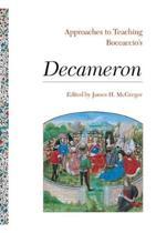 Approaches to Teaching Boccaccio's Decameron