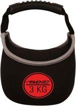 Avento Kettle Bell Neopreen - 3 Kg - Zwart/Rood