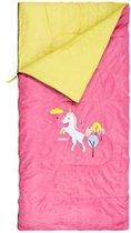 Kinderslaapzak - dekenmodel slaapzak - 70 x 140 cm - roze eenhoorn - slaapzak kids