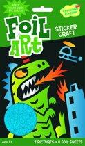 Peaceable Kingdom Foil Art Sticker Kit - Dino/Octopus