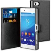muvit Xperia Z5 compact Wallet Case with 3 cardslots Black