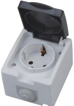 Buitenstopcontact - Opbouw - Enkel - Geaard - Waterdicht IP54 - BES LED