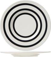Cosy & Trendy Black Bands Dessertbord - Ø 22 cm - Set-6