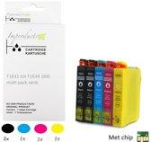 Improducts® Inkt cartridges - Alternatief Epson 16XL 4 pack + zwart