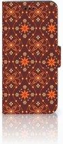 Huawei P10 Lite Uniek Boekhoesje Batik Brown