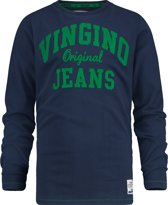 Vingino Jongens T-shirt - Dark Blue - Maat 110