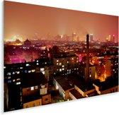 Rode gloed over Changchun in China Plexiglas 90x60 cm - Foto print op Glas (Plexiglas wanddecoratie)
