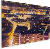Verlichting in de straten van Lyon in Frankrijk Plexiglas 180x120 cm - Foto print op Glas (Plexiglas wanddecoratie) XXL / Groot formaat!
