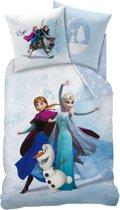 Disney Frozen Enjoy - Dekbedovertrek - Eenpersoons - 140 x 200 cm - Blauw