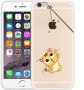 Siliconen hoesje voor de Apple Iphone 6 / 6S  (Grappig katje)