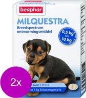 Beaphar Milquestra Pup - Anti wormenmiddel - 2 x 2 tab 0.5 Tot 10 Kg