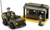 Sluban Landmacht wachthuis en Jeep M38-B6100