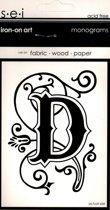 Strijksjabloon Monograms Letter D