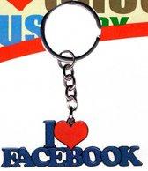 sleutelhanger I love facebook