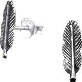 Silver feather earings | Sterling 925 Silver (Echt zilver)