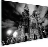 Zwart wit afbeelding van de Kathedraal York Minster Plexiglas 60x40 cm - Foto print op Glas (Plexiglas wanddecoratie)