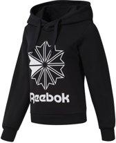 Reebok Classics Big Logo FL Hoodie Dames Sporttrui - Black - Maat XS