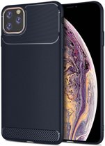 Apple iPhone 11 Pro Max Armor TPU Hoesje Blauw