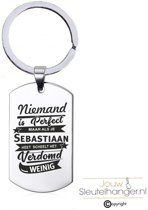Niemand Is Perfect - Sebastiaan - RVS Sleutelhanger