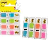 Post-it® Index Smal, Standaard Dispenser - Helder Blauw, Helder Groen, Oranje, Helder Roze