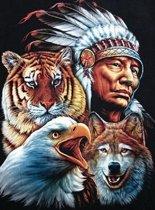 "Diamond Painting ""JobaStores®"" Indiaan - volledig - 40x50cm"