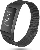 | Fitbit Charge 3 Milanese band (zwart) Small