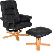 TecTake TV fauteuil relax stoel relaxstoel met kruk - 401058