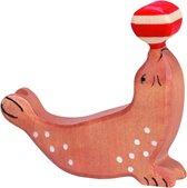 Holztiger Zeedieren: zeehond met bal