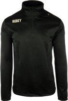Robey Premier Semi Zip - Voetbaljas - Black - Maat L