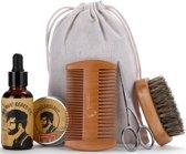 Baard Verzorging set - Baardverzorging - Baardolie - Baardwax - Grooming Kit - Baardset - Cadeauset - Baardstyling - Baard Borstel – Baardverzorgingset