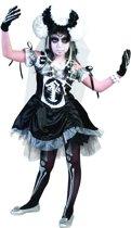 Chique skeletten kostuum voor meisjes Halloween - Verkleedkleding - 116/122