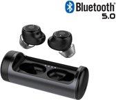 DrPhone - UltimateX Vevo - TrueWireless Draadloze Earphones Met Professioneel Unit Supplier & Tuning - Bluetooth 5.0 - Rijke Bastonen, Helder Geluid - 8th Generation Noise Cancelling Oordoppen - TWS Zwart
