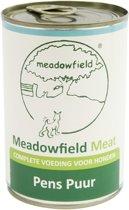 Meadowfield meat blik pens puur hondenvoer 400 gr