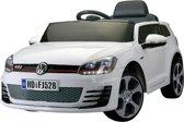 Elektrische Kinder Accu Auto Volkswagen Golf GTI Wit met afstandsbediening