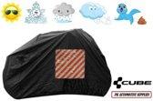 Fietshoes Zwart Met Insteekvak Polyester Cube Town Hybrid Sport 400 2018 Lage Instap