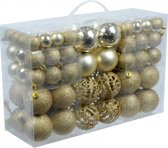 Gouden kerstballen 100 stuks