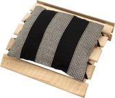 Emendo - Sauna hoofdsteun met kussentje - zwart, 25x24 cm