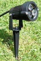 Tuinspot Tigo met spies Led 12V Lichtkleur Warm Wit met waterdichte oplasplug