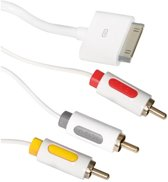 ICIDU AV Composite Cable 2m White 2m Apple 30-p 3 x RCA Wit composiet videokabels