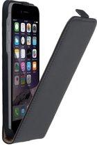 Luxe Lederlook Flipcase hoesje voor iPhone 8 Zwart