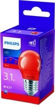 Philips - LED lamp - E27 - 3,1W - Rood