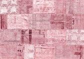 Exclusive Edition Tapijt Roze Romantiek – Turks Patchwork – Roze-Bordeaux