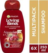 Garnier Loving Blends Arganolie & Cranberry Shampoo - 6 x 250 ml – Voordeelverpakking