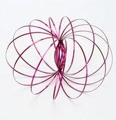 Magic Metal Rings | RVS Flow Ring 3D | 3D Toroflux Flow Ring | Magische Armband | Nieuwe Rage | Kleur rose