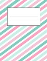 Color Stripes 8.5 x 11 150 Pages Journal Notebook