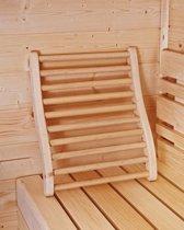 Ergonomische rugsteun sauna
