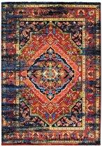 Basic Collection Vintage vloerkleed Marrakech 160x230 cm - Zwart / Multikleur