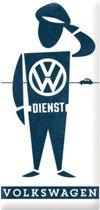 VW Dienst  Metalen wandbord in reliëf 25x50 cm