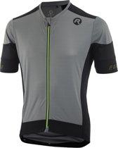 Rogelli Rise Fietsshirt - Heren - Korte mouwen - Maat XL - Grijs/Zwart/Fluor