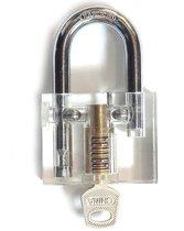 DANIU 3pcs Cutaway Inside View Of Practice Hangsloten Lock Pick Tools Slotenmaker Training Skill Tools Set
